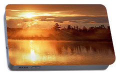 Portable Battery Charger featuring the photograph Sunset Over A Lake, Pocono Mountains, Pennsylvania by A Gurmankin