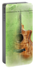 Taylor Inspirational Quote, Acoustic Guitar Original Abstract Art Portable Battery Charger by Pablo Franchi