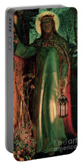 The Light Of The World Portable Battery Charger by William Holman Hunt