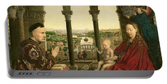 The Rolin Madonna Portable Battery Charger by Jan van Eyck