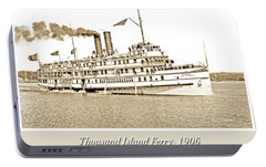 Portable Battery Charger featuring the photograph Thousand Islands Ferry Boat 1906 Vintage Photograph by A Gurmankin