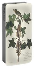 Traill's Flycatcher Portable Battery Charger by John James Audubon