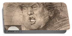 Trump Portable Battery Charger by Ylli Haruni