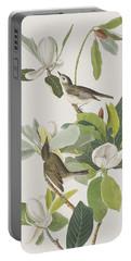 Warbling Flycatcher Portable Battery Charger by John James Audubon