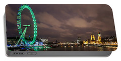 Westminster And The London Eye Portable Battery Charger by Dawn OConnor