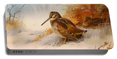Winter Woodcock Portable Battery Charger by Mountain Dreams