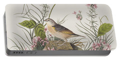Yellow-winged Sparrow Portable Battery Charger by John James Audubon