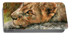 Young Lion Portable Battery Charger by David Stribbling