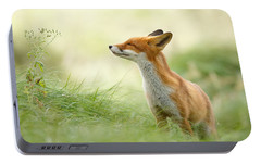 Zen Fox Series - Zen Fox Portable Battery Charger by Roeselien Raimond