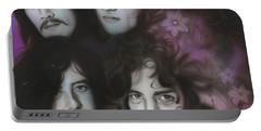 Led Zeppelin - ' Zeppelin ' Portable Battery Charger by Christian Chapman Art