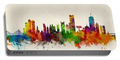Boston Massachusetts Skyline Portable Battery Charger by Michael Tompsett