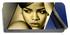 Rihanna Collection Portable Battery Charger by Marvin Blaine