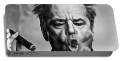 Jack Nicholson Collection Portable Battery Charger by Marvin Blaine