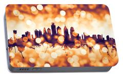 Philadelphia Pennsylvania Skyline Portable Battery Charger by Michael Tompsett