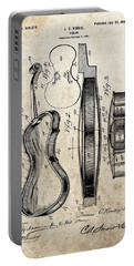 1899 Violin Patent Illustration Portable Battery Charger by Dan Sproul