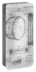 1908 Drum Patent Illustration Portable Battery Charger by Dan Sproul