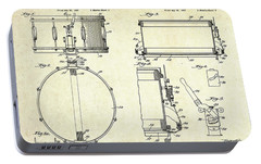 1939 Slingerland Snare Drum Patent Sheets Portable Battery Charger by Gary Bodnar