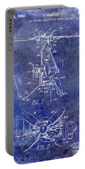 1956 Helicopter Patent Blue Portable Battery Charger by Jon Neidert