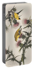American Goldfinch Portable Battery Charger by John James Audubon
