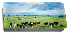 Happy Cows Portable Battery Charger by Todd Klassy