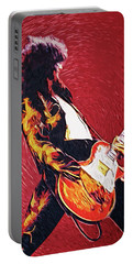 Jimmy Page II Portable Battery Charger by Taylan Soyturk