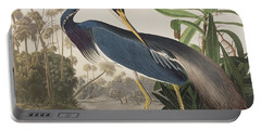 Louisiana Heron  Portable Battery Charger by John James Audubon