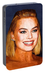 Margot Robbie Art Portable Battery Charger by Best Actors