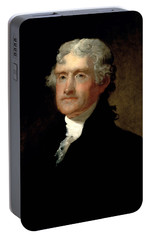 President Thomas Jefferson  Portable Battery Charger by War Is Hell Store