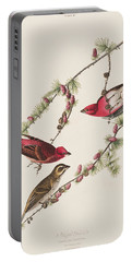 Purple Finch Portable Battery Charger by John James Audubon