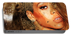 Robyn Rihanna Fenty - Rihanna Portable Battery Charger by Sir Josef - Social Critic - ART