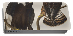 Rough-legged Falcon Portable Battery Charger by John James Audubon