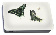 Studies Of Two Butterflies Portable Battery Charger by Anton Henstenburgh