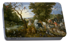 The Entry Of The Animals Into Noah's Ark Portable Battery Charger by Jan Brueghel the Elder