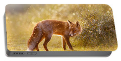 The Fox And The Fairy Dust Portable Battery Charger by Roeselien Raimond