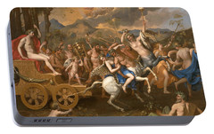 The Triumph Of Bacchus Portable Battery Charger by Nicolas Poussin
