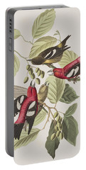 White-winged Crossbill Portable Battery Charger by John James Audubon