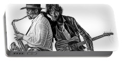 Bruce Springsteen Clarence Clemons Collection Portable Battery Charger by Marvin Blaine