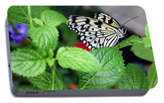 Paper Kite Butterfly No. 3 Portable Battery Charger by Sandy Taylor