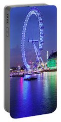 Ferris Wheel At The Waterfront Portable Battery Charger by Panoramic Images