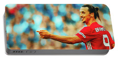 Manchester United's Zlatan Ibrahimovic Celebrates Portable Battery Charger by Don Kuing