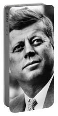 President Kennedy Portable Battery Charger by War Is Hell Store
