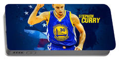 Stephen Curry Portable Battery Charger by Semih Yurdabak