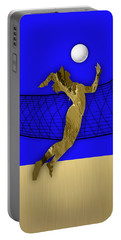 Vollyball Collection Portable Battery Charger by Marvin Blaine