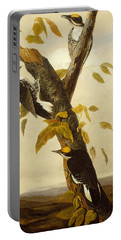 Woodpeckers Portable Battery Charger by John James Audubon