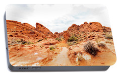 Valley Of Fire State Park Panorama Portable Battery Charger by Daniel Shumny