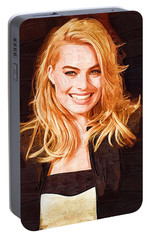 Margot Robbie Painting Portable Battery Charger by Best Actors