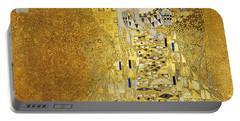 Portrait Of Adele Bloch-bauer I Portable Battery Charger by Gustav Klimt