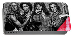 Van Halen Collection Portable Battery Charger by Marvin Blaine