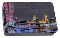 Westminster - London Portable Battery Charger by Joana Kruse
