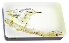 Portable Battery Charger featuring the photograph White-breasted Nuthatch, Animal Portrait by A Gurmankin
